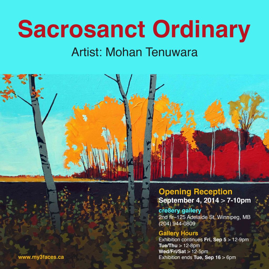 "2014 Solo Art Exhibition, ""Sacrosanct Ordinary"", Cre8ery Gallery, Winnipeg, Manitoba"