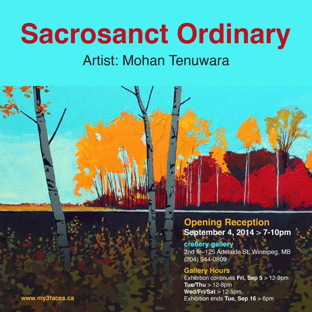 "2014 Solo Art Exhibition, ""Sacrosanct Ordinary"", Cre8ery Gallery, Winnipeg, Manitoba"