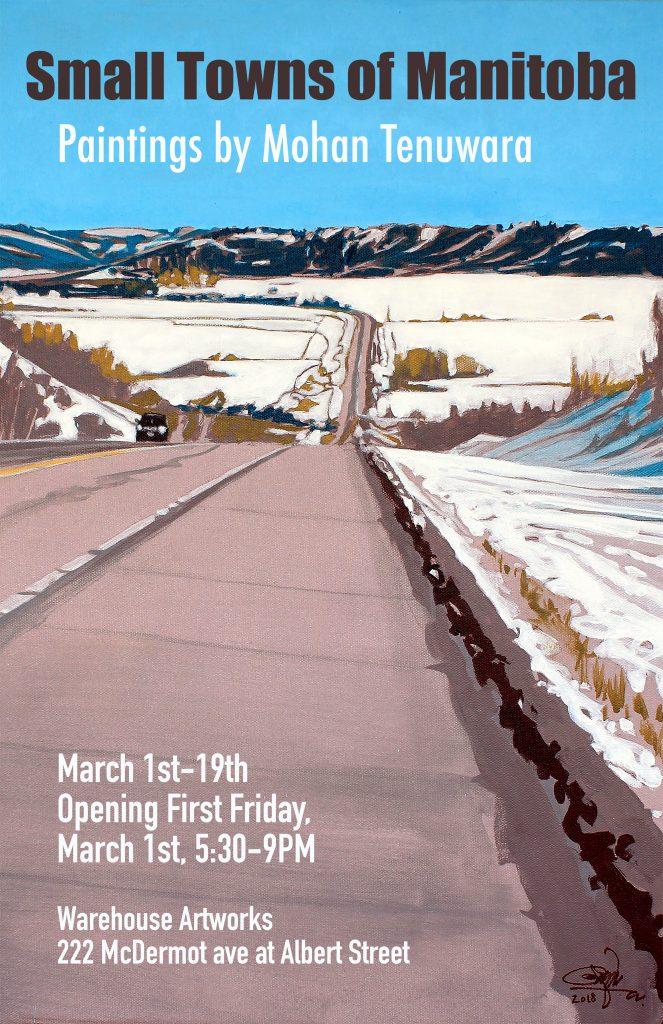 "2019 Solo Art Exhibition ""Small Towns of Manitoba"", Warehouse Artworks, Winnipeg, Manitoba"