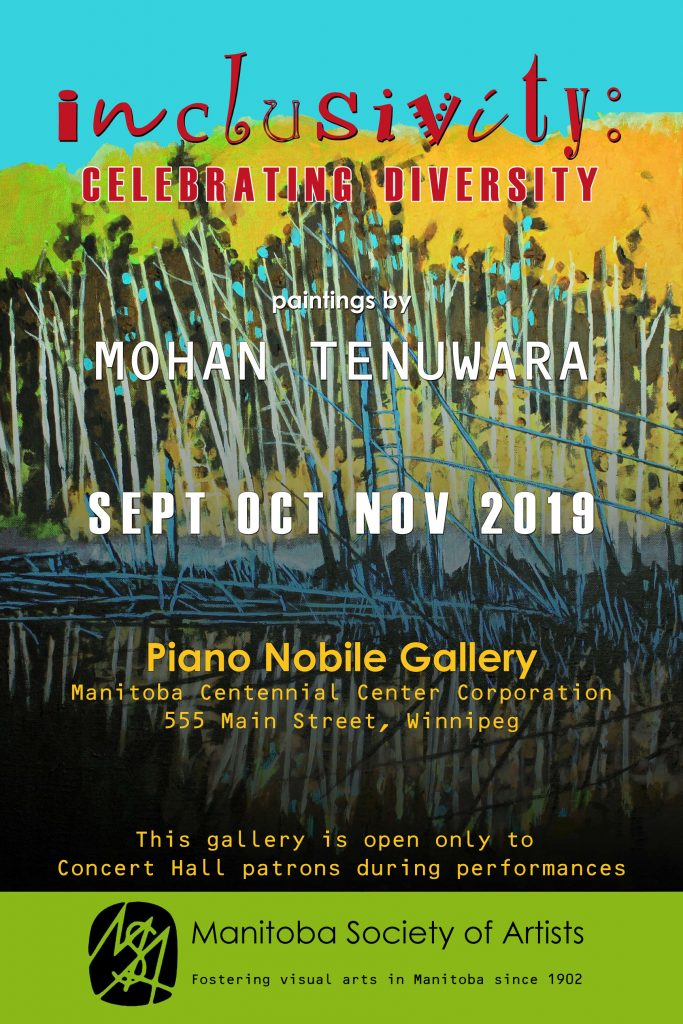 "2019 Solo Art Exhibition ""Inclusivity: Celebrating Diversity"", Piano Nobile Gallery, Winnipeg, Manitoba"