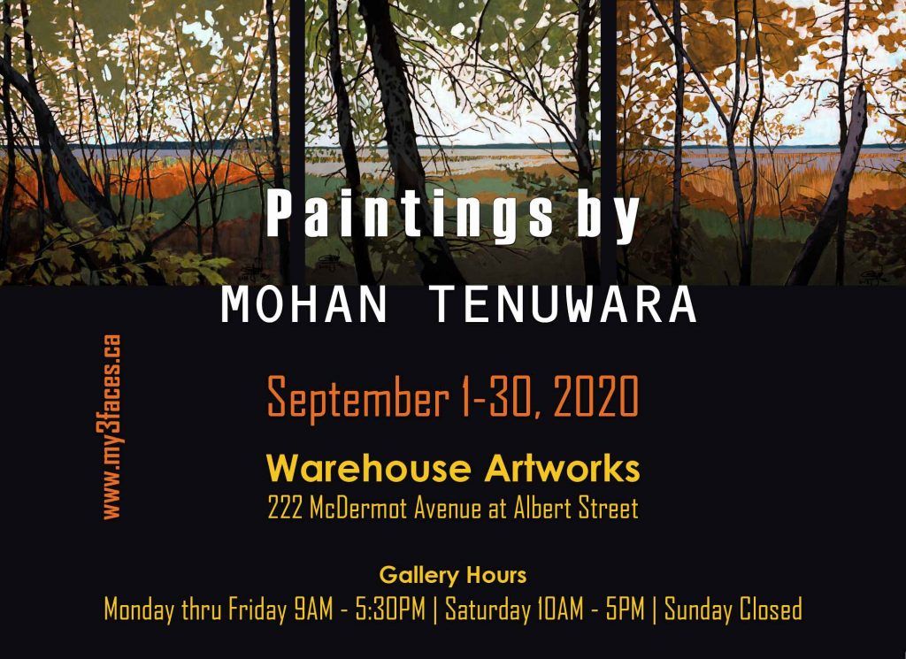 "2020 Solo Art Exhibition ""Paintings by Mohan Tenuwara"", Warehouse Artworks, Winnipeg, Manitoba"